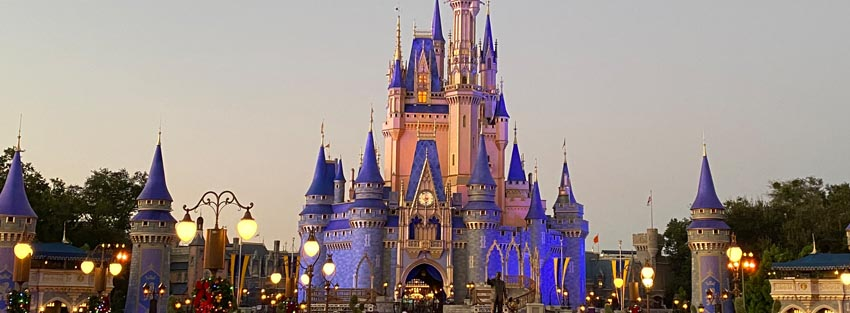 Cinderella Castle at Twilight