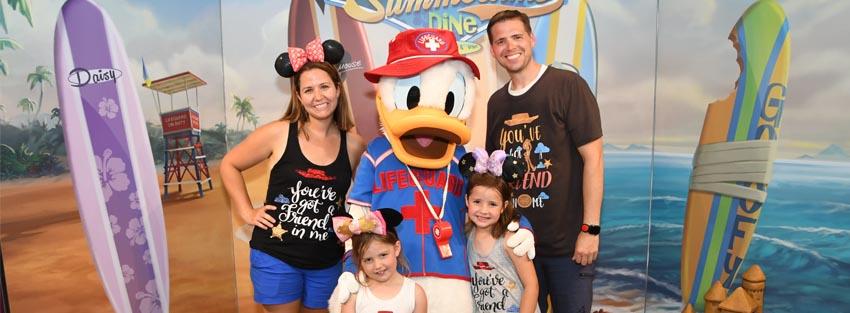 Glenn family with Donald Duck