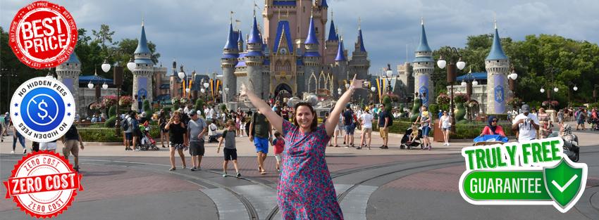 Monica In Front of Cinderella's Castle