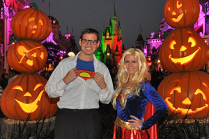 Photo of Monica Glenn in front of Cinderella's Castle