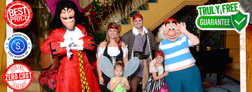 Monica with her family and Captain Hook