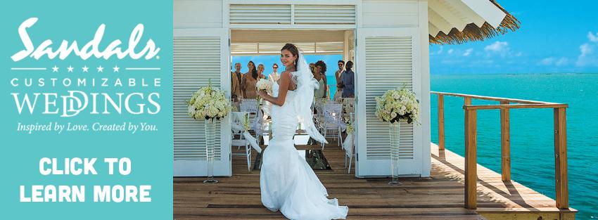 Sandals Wedding Banner
